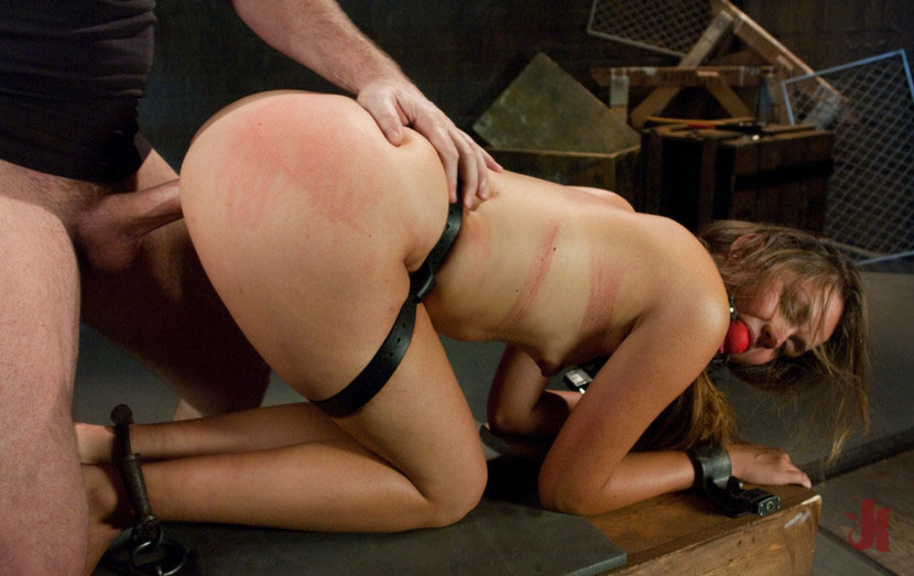 Anal slave hard fucked in doggy