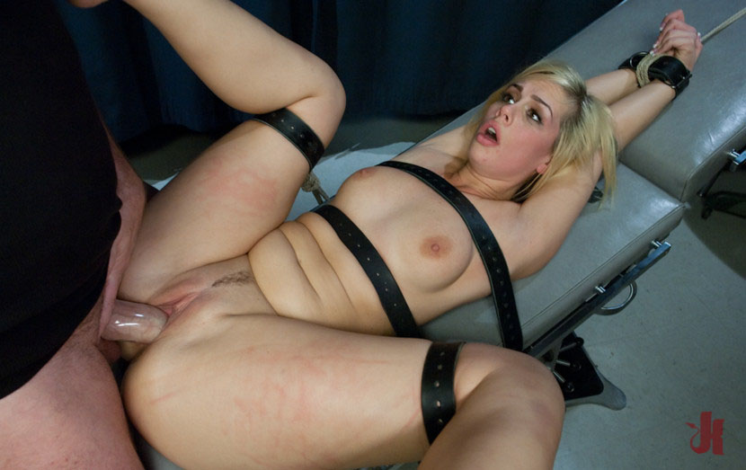 Cute blonde is fucked by her doctor on an examination chair