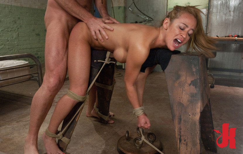 Fucked From Behind By A Dominating Man While Tied To An Iron Horse
